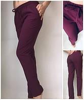 Летние женские брюки штаны молодежные Султанки А13 бордовые