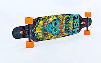 Лонгборд деревянный профессиональный из канадского клена 41in фрирайд  (черный-оранжевый) , фото 1