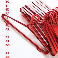 Вешалки плечики пластиковые для верхней одежды красные, 42 см и 46 см