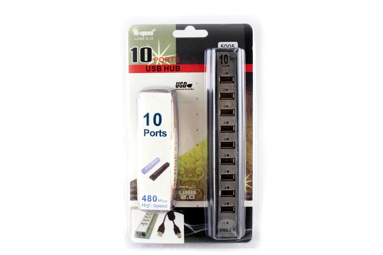 Разветлитель USB HUB 10 PORTS 220V (50)