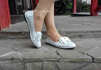 Женские туфли кожаные серебристые Жіночі туфлі шкіряні сріблясті