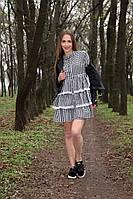 """Короткое платье-рубашка """"Esta"""" с оборками и с длинным рукавом (4 цвета)"""