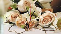 """Часы настенные стеклянные """"Нежные розы"""", фото 1"""