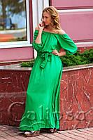 Летнее длинное платье в ярких тонах (4 цвета) 1011