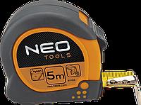Рулетка, Neo 67-155 стальная лента 5 м x 25 мм, с магнитом, двустороннее полотно