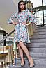 ✔️ Сукню на запах з воланами 42-48 розміру блакитне