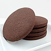 Печиво шоколадне для брендування та декоруванння [коло з гладким краєм]
