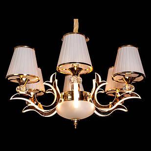 Современная классическая люстра на 6 лампочек СветМира с LED подсветкой рожков  D-9430/6