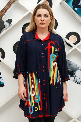 Модная рубашка большая на лето Амина, фото 2