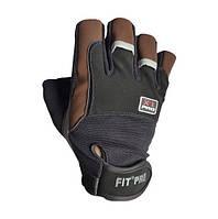 Перчатки для тяжелой атлетики Power System X1 Pro FP-01 Black/Brown M, фото 1