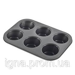 """Форма для выпечки кексов """"Muffin"""" 6шт/л 26*18.5*2.7см MH-0507 (36шт)"""