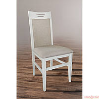 Обеденный стул из массива дерва -Юля (АВАНГАРД) белый, ваниль
