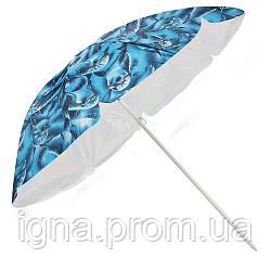 Зонт пляжный d1.8м серебро MH-0037 (12шт)