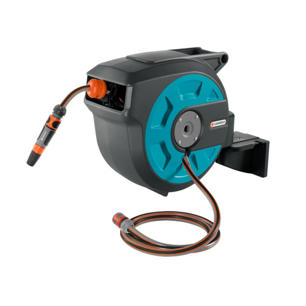 Аксесуари для водопостачання, поливу Gardena 15 Roll-Up Automatic Настенный барабан (8022-20)