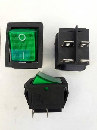 Кнопочный выключатель, переключатель клавишный.  Клавиша широкая, с подсветкой, фото 2