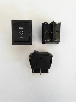 Кнопочный выключатель, Клавиша широкая, 3 положения с фиксацией, фото 2