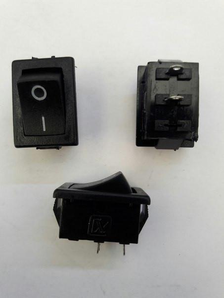 Кнопочный выключатель, Клавиша мини, 2 контакта, с фиксацией