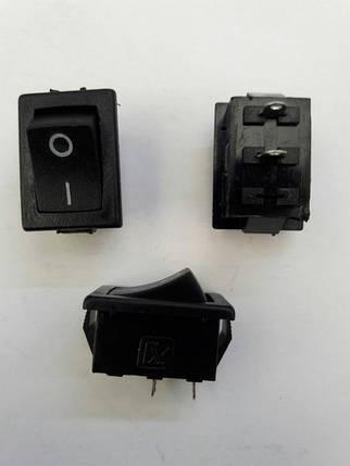 Кнопочный выключатель, Клавиша мини, 2 контакта, с фиксацией, фото 2