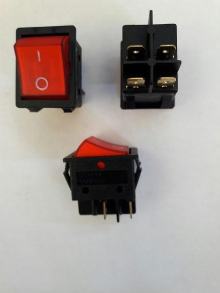 Кнопочный выключатель, переключатель клавишный.  Клавиша широкая, с подсветкой (Турция )