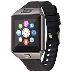 """➤Смарт-часы 1.5"""" UWatch DZ09 Black мужские яркий экран SIM Телефон для пробежек и занятий спортом"""