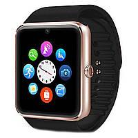 """ϞСмарт-часы 1,54"""" UWatch GT08 Gold (Lite) аккумулятор 380mAh Bluetooth звонки SMS уведомления контроль сна"""