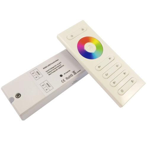 Контроллер однозональный RGB пульт сенсорный 10 кнопок, радиоуправление
