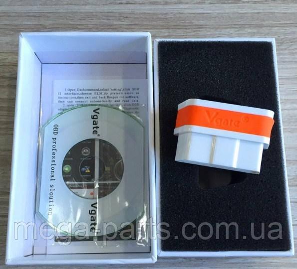 Автосканер Диагностика Vgate iCar2 OBD 2 ELM327 OBD2 Bluetooth3.0 Белый