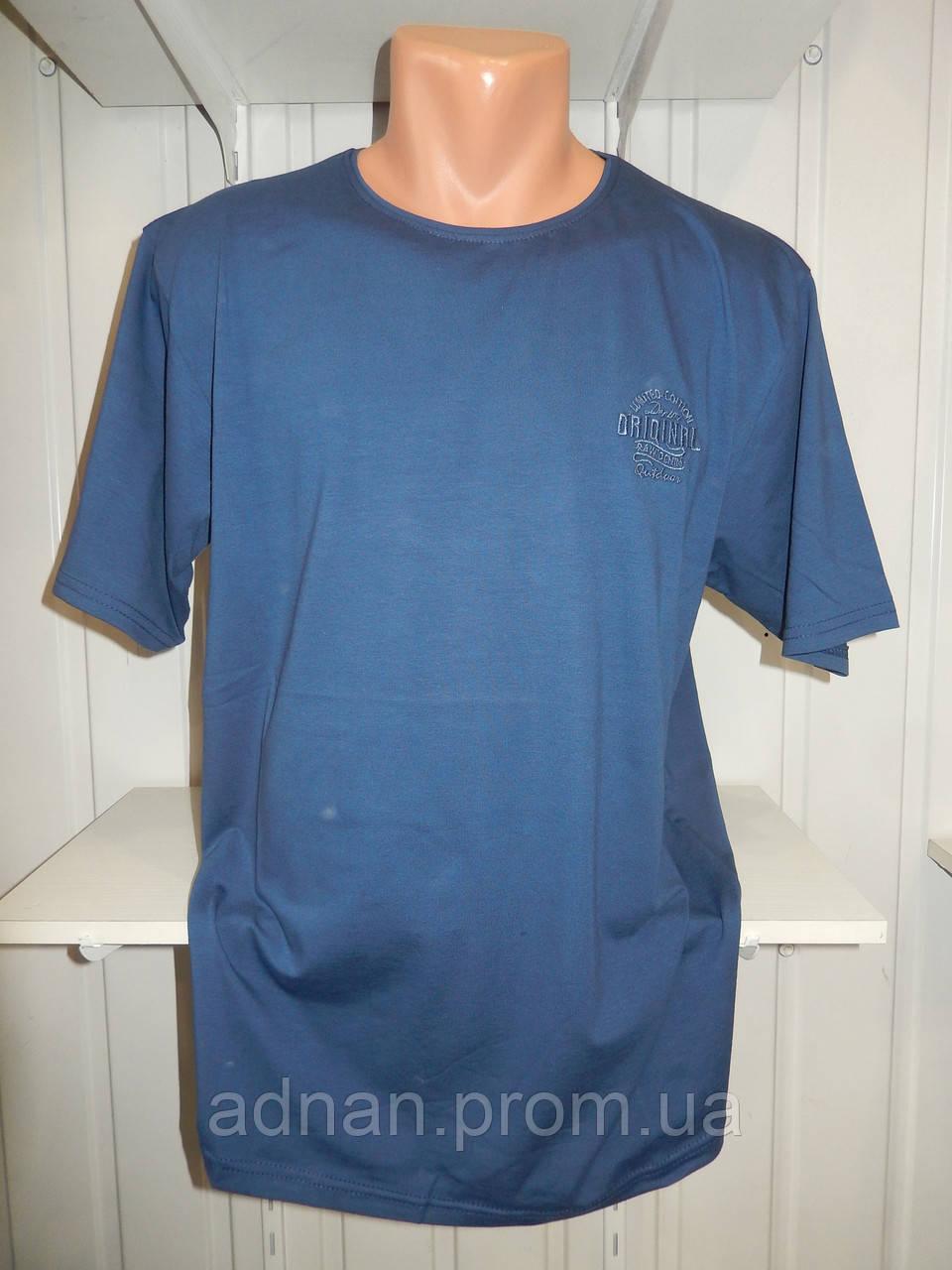 Футболка мужская батал RBS ORIGINAL стрейч коттон  005 \ купить футболку мужскую оптом