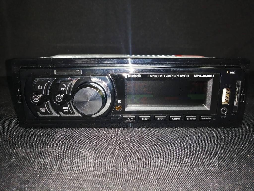 Автомагнитола MP3 4040BT FM/USB/TF
