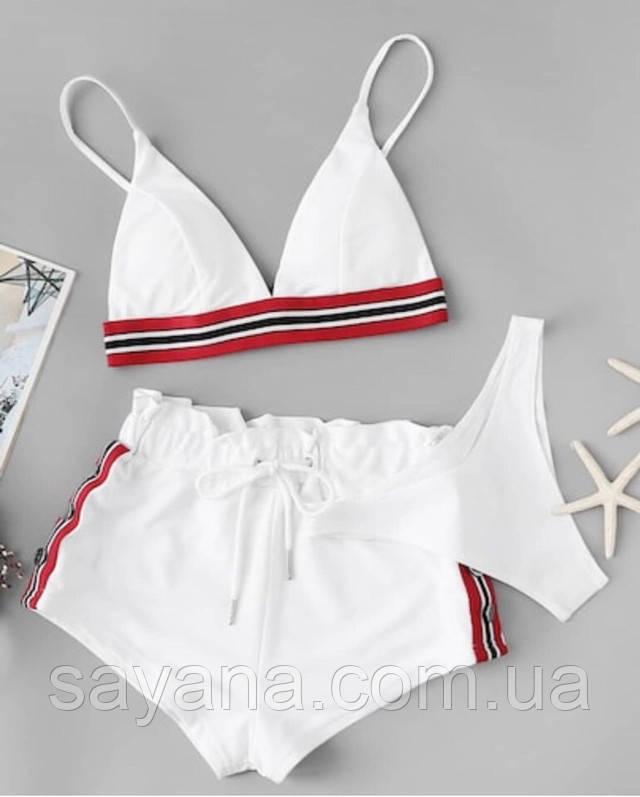 женский раздельный купальник и шорты опт