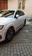 Боковые площадки оригинальный дизайн V1 на Audi Q7 2015+гг