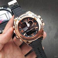 Часы Мужские Касио джи-шок Casio GLG-1000 Black-Cuprum \черные-медь\ спортивные \ ремешок \ чоловічий годинник