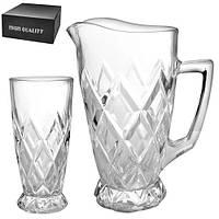 Набор стаканы/графин 7пр/наб 250мл 1.5л R86696 (4наб)