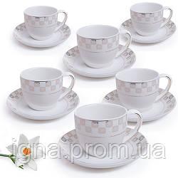 Сервиз кофейный 12пр (6чашек 150мл, 6блюдец 14см) HH1603098 (8наб)