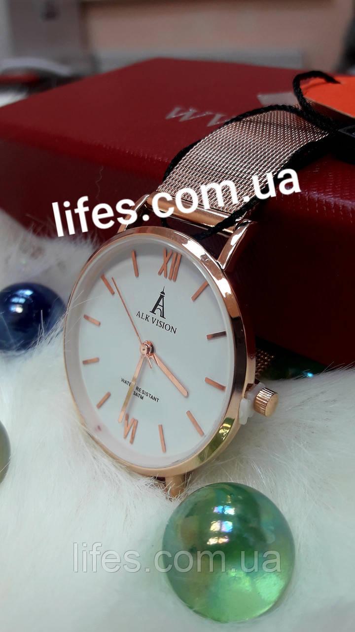 Часы женские ALK VISION  Кольчужное золото.