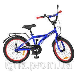 Велосипед детский PROF1 20д. T2033 (1шт) Racer,синий,звонок,подножка