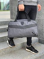 81a53de46921 Сумка спортивная в стиле Puma Ferrari / дорожная сумка через плечо /  антрацит