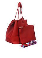 Набор - женская сумка и клатч в красном цвете