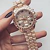 Женские кварцевые наручные часы Michael Kors Full Diamond, Gold