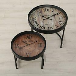 Набор двух столов с часами