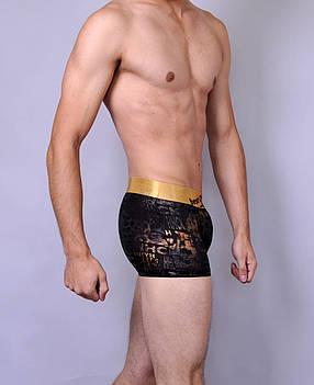 Мужские трусы - боксеры C+3  007  L  Черный с золотым , фото 2