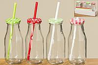 Набор стеклянных баночек для напитков h16 см