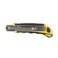 Нож пластик/резина корпус лезвие 3шт 18мм автоматический замок Sigma (8211111)