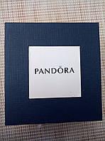 Подарочная упаковка - коробка для часов Pandora (Пандора), синяя с белым, фото 1