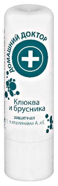 Гигиеническая помада Домашний Доктор Клюква и Брусника Защитная - 3,6 г.