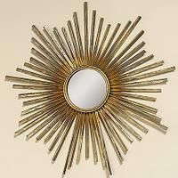 Настенный декор зеркало Звезда золото d 74 см