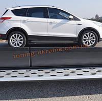 Боковые площадки оригинальный дизайн V2 на Ford Kuga 2013+