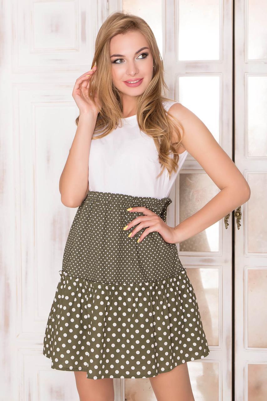 3275e239af4293 Жіноче повсякденне плаття, кольору хакі, у горошок, літнє, святкове,  молодіжне,