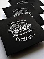 Конверты для бургерных перчаток с вашим логотипом из черной дизайнерской бумаги., фото 1