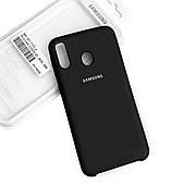Силиконовый чехол на Samsung M20 Soft-touch Black